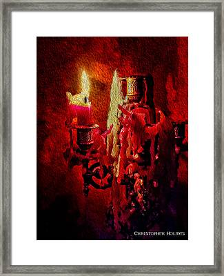 Last Candle Framed Print by Christopher Holmes