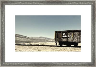 Last Car On The Block Framed Print