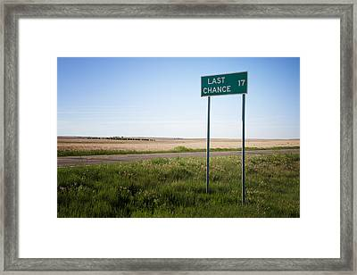 Last Chance Colorado Framed Print by Mary Lee Dereske