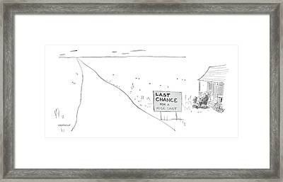 'last Chance For A Nice Chat' Framed Print by James Stevenson