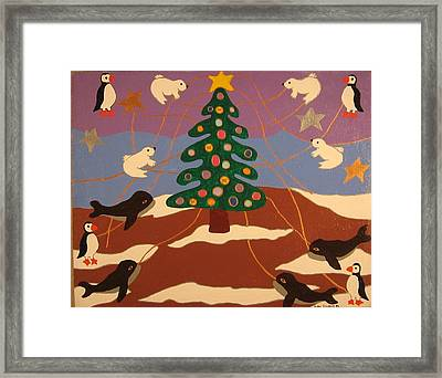 Framed Print featuring the painting Last Christmas by Erika Chamberlin