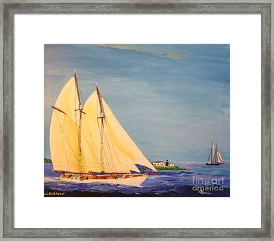 Last Cruise Of Sch. Arethusa Framed Print by Bill Hubbard