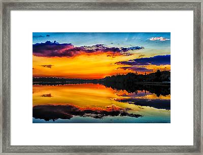 Last Daylight Framed Print by Louis Dallara