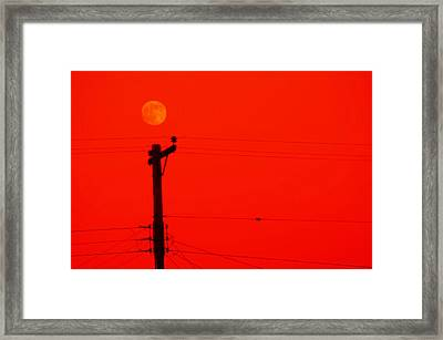 Red Moon Rising Framed Print by See My  Photos