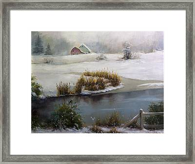 Last Days Of Winter Framed Print by Carlos Herrera