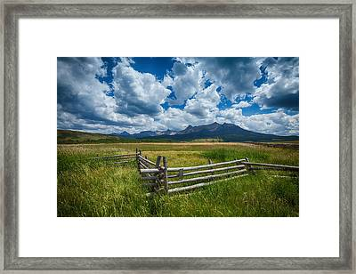 Last Dollar Ranch Framed Print by Darren  White