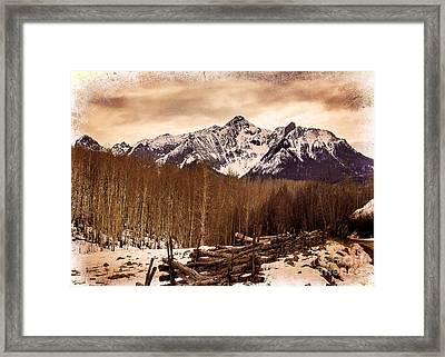 Last Dollar Road Winter Framed Print