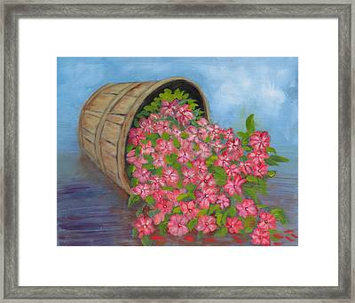 Framed Print featuring the painting Last Flowers Of Summer by Sharon Schultz
