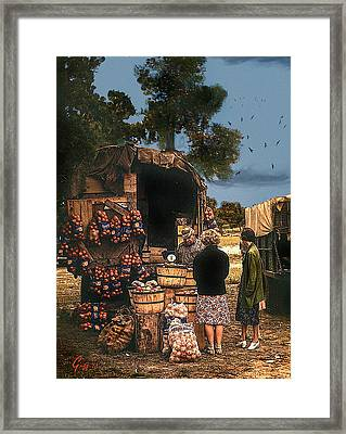 Last Fruit Wagon Of The Season Framed Print