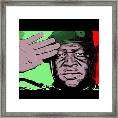 #last #idiamin #leader #series Framed Print