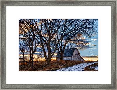 Last Kiss Of Day Framed Print