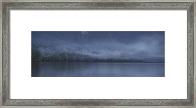 Framed Print featuring the photograph Last Light At Bohinj by Graham Hawcroft pixsellpix