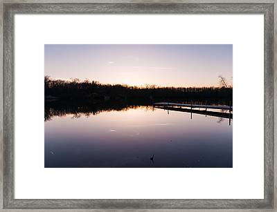 Last Light At Cleveland Pond Framed Print by Lee Costa