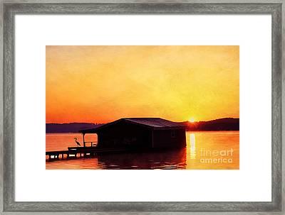 Last Light Framed Print by Darren Fisher