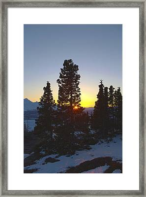 Last Light In The Mountains Framed Print by Tim Grams