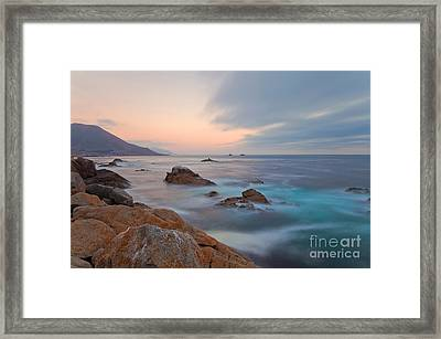 Framed Print featuring the photograph Last Light by Jonathan Nguyen