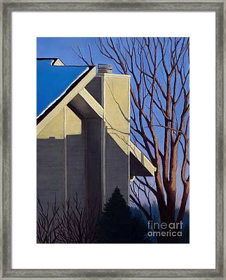 Last Light Last Snow Framed Print by Xenia Sease