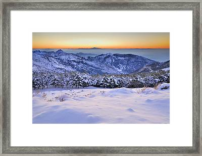 Last Light Of The Day Framed Print by Guido Montanes Castillo
