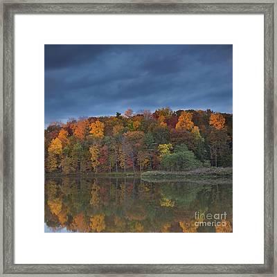 Last Light On Beebe Lake Framed Print by Michele Steffey
