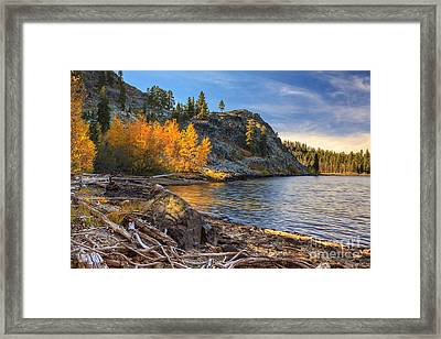 Last Light On Taylor Lake Framed Print by James Eddy