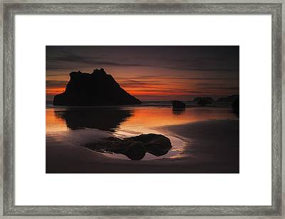 Last Light On The Coast Framed Print