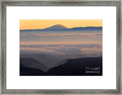 Last Light Over Mt. Adams Framed Print