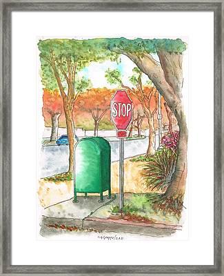 Last Mailbox In Beverly Hills - California Framed Print