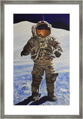 Last Man - Apollo 17 Framed Print by Simon Kregar