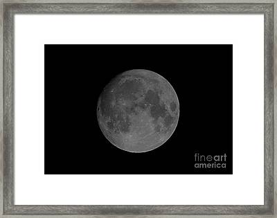 Last Millennium Full Moon Framed Print by John Chumack