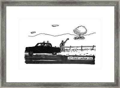Last-minute Campaign Stop Framed Print