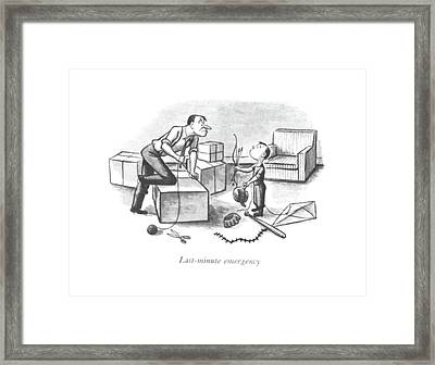 Last-minute Emergency Framed Print by William Steig