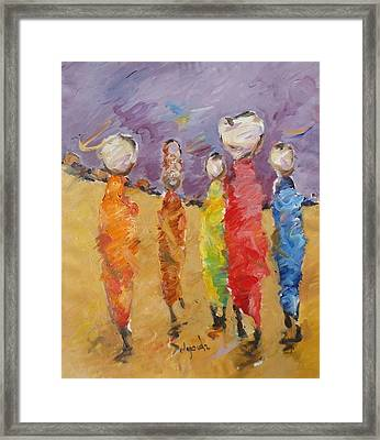 Last Of Nuba 2 Framed Print by Negoud Dahab