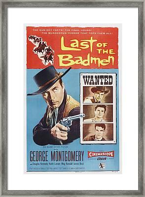 Last Of The Badmen, Us Poster Art Framed Print