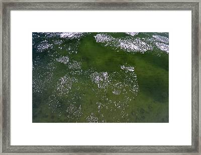 Last Of The Ice Floating  Framed Print by Lyle Crump