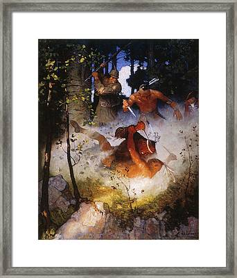 Last Of The Mohicans, 1919 Framed Print by Granger