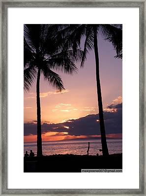 Last Of The Sun On Maui Framed Print