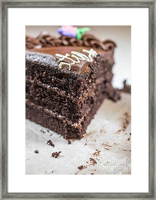 Last Piece Of Chocolate Cake Framed Print