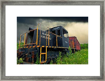 Last Pull Framed Print by Ron Day