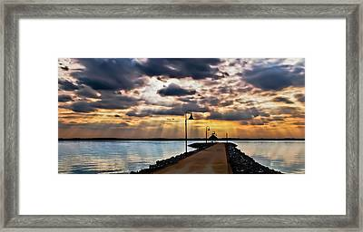 Framed Print featuring the photograph Last Rays by Greg Jackson