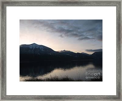 Last Rays Framed Print by Leone Lund