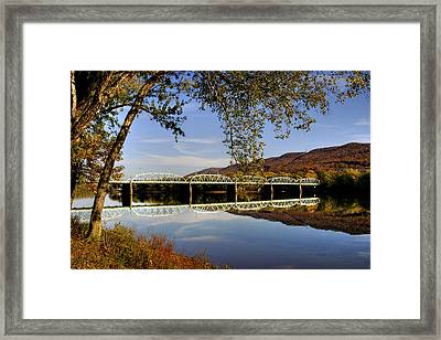 Last Reflections Of The Old Bridge Framed Print