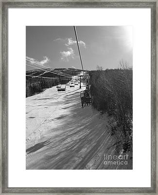 Last Run Of The Day Framed Print