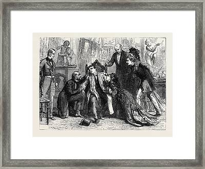 Last Scene From Man And Wife At The Prince Of Wales Theatre Framed Print by English School