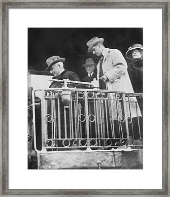 Last Shot Of President Harding Framed Print