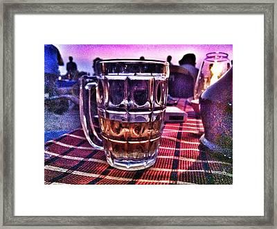 Last Sip Framed Print by Sumit Jain