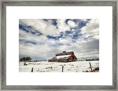 Last Snow Barn Framed Print
