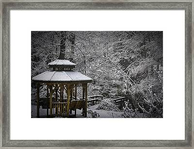 Last Snow Framed Print by Barry Jones