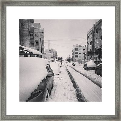 Last Snow In Amman,  Dec. 13 #beamman Framed Print