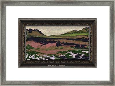 Framed Print featuring the painting Last Snow Lsn2 by Pemaro