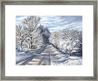 Last Snow Series N1 Framed Print by Veronica Minozzi